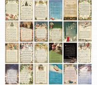 Cheap Wholesale-Free shipping vintage Merry Christmas songs boxed postcards 30pcs set Birthday Card Greeting Card Gift Card Fashion Gift