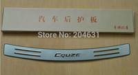 auto bumper protector - Stainless rear tread plate auto rear bumper protector trunk trim exterior for Cruze