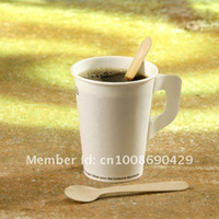 disposable spoon - Disposable Wooden Coffee Spoons cm Flatware Cutlery Eco Friendly Icecream Cake Pudding Stick birch wood dessert