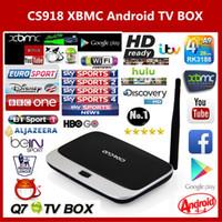 Wholesale Arabic IPTV BOX XBMC Fully Loaded Android TV Box Quad Core CS918 MK888 Q7 Android Smart TV Free SkySports Live TV HD P