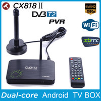Wholesale New DVB T2 PVR Android TV BOX CS818 Media Player Amlogic Aml8726MX G G HDMI WiFi Smart IPTV Tuner Russia DVB T2 Receiver