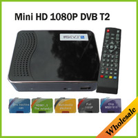 Cheap Wholesale-Mini Set Box HD PVR Digital Terrestrial MPG4 H.264 DVB-T2 TV Receiver DVB T2 Tuner With MSD7816 Support USB HDMI,Free shipping