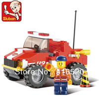 Cheap 2015Sluban Fire Crash Truck B0217 Building Blocks Sets 118pcs Legoland Educational Jigsaw Construction Bricks Toys For Childrentoycity