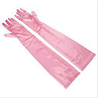 Wholesale New Fashion Evening Party Opera Gloves for Women Stretch Satin Long Gloves Women Brand Fashion Accessories for Women