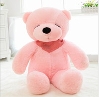 bear skin clothing - 2015 cm teddy bear skin no pp cotton teddy coat large size bear clothing birthday valentine s day gifttoycity
