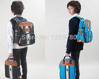 Wholesale Child polo school bags children anti lost canvas backpack Kids cotton boy bags