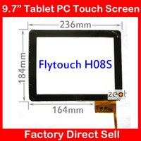 Wholesale Free Tracking quot inch touch screen digitizer touch panel glass for Flytouch H08S Android MB9703 tablet DPT