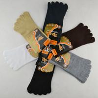 Wholesale Men s Fashion Toe Socks Finger Socks High Quality Cotton Material NWM054