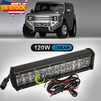 Cheap 120W Osram Offroad LED Light Bar 12'' ATV SUV 4WD Trailer Pick-up UTV Golf Auto Auxiliary Spot Flood Combo Bumper Driving Lamp