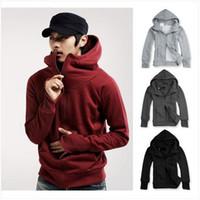Wholesale New Men s Casual Zip Up Hoodies Plain Zip Hoody Jacket Short Coat Sweatshirts