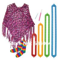 Wholesale Size Quality Plastic DIY Shawl Hat Yarn Knitter Knifty Long Knitting Loom