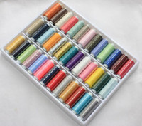 Wholesale x200 Yard Reel Mixed Colors Spools Polyester Sewing Thread For Hand amp Machine