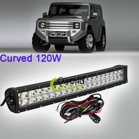 Cheap 22 Inch Curved 120W LED Light Bar Cambered Spot Flood Combo Beam Off Road SUV ATV Wagon 4WD 4X4 Upper Roof Offroad Driving Lamp