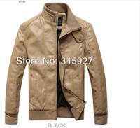 Cheap Wholesale-Free shipping 2015 Men short paragraph Slim thickened winter clothing machine wagon jacket M-3XL