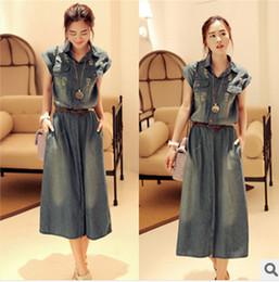 Wholesale-S M L XL summer new arrival women denim casual dresses ladies plus size hole jeans dress high street 8841