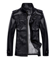 pelle pelle jackets - Slim collar insignia design men leather jacket Giacca di pelle collare sottile insegne di progettazione uomini8708