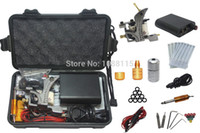 Cheap Wholesale-Tattoo Kit Professional with Best Quality Permanent Makeup Machine For Tattoo Equipment Cheap Black Tattoo Machines Kit Piercing