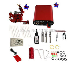 Wholesale Tattoo Starter Kit Machine Guns color inks Supply Set Equipment Pro Tattoo Supplies