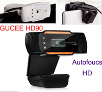 auto focus video camera - GUCEE HD90 Auto Focus fps HD P Digital USB LED Web Webcam Camera Mic LED For Desktop PC Laptop Skype MSN Video Game