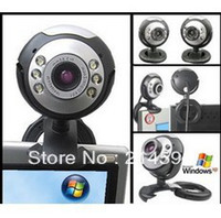Cheap Wholesale-Hd computer camera with a microphone night vision video usb cmos web cam desktop microphone