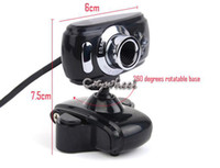 Wholesale New USB Pixel Web Cam HD Camera WebCam With MIC Microphone Black Color For Computer PC Laptop Notebook SV004161
