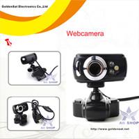 Cheap Wholesale-HD Webcams with Microphone USB Web cameras w LED&night vision for PC Computer camara web ceamara greasain kamera internetowa