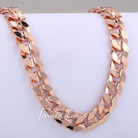 cuban link chain - mm Curb Cuban Link Chain Necklace K Rose Gold Filled Necklace Mens Chain Necklace Jewelry LGN160
