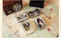 Cheap Wholesale-Bentoy Iron Box Card Vintage lomo mini postcards 64 pcs set greeting card Birthday Card gift card Free Shipping