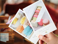 boxed greeting cards - New sweat of macaroon box postcard Collectible Collection wedding card Gift set Greeting card