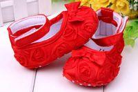 wholesale infant shoes - Baby pre walker shoes infant baby girl prewalker flower soft sole shoes Little Spring Free Dropshipping