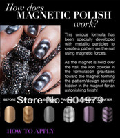 magnetic nail polish - Lastest HOT Magnetic Nail Polish Colours Available With Designs Magnet each bottle with one magnet