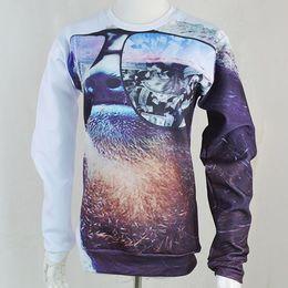 Wholesale-New autumn femininas sweatshirt Money On My Mind Sloth print funny animal sweats woman man cool street wear drop shipping