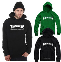 Wholesale Top quality Street Skateboard Brand Thrasher Hoodies Fashion