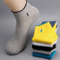 Wholesale prs Hot Sale Fashion New Solid Colors Cotton Embroidery Logo Men s Summer amp Autumn Thin Tube Socks Free Size