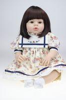 "Cheap 28"" 70CM Reborn toddler Arianna Tatiana baby doll TOP QUALITY Reva Schick lifelike princess finished dolls reborn baby girltoycity"