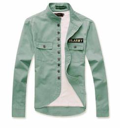 Wholesale New Fall Jacket Men Shirt Long Sleeved Lapel Fashion Military Style Shirt Thin Coat Cotton Soft Outwear XXXL