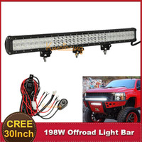 Cheap 30 Inch CREE 198W Offroad LED Work Light Bar Combo Beam SUV ATV 4X4 4WD Truck Trailer Driving Lamp Car Auto Bumper Lamp For JEEP