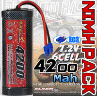 ni-mh battery pack 7.2v - 4200mah NI MH V cell Flat battery pack with EC3 connector rechargeable large big rc battery
