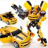 Wholesale Bumblebee cm Robots Bumblebee Action figures LEADER C Will be light and sound Classic Toys for Children Action Toy Figures