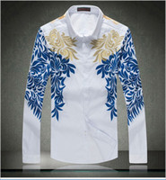 designer clothes for men - men New designer Brand Shirts Slim Fit Long Sleeve High Quality Mens Shirt for men s clothes factory