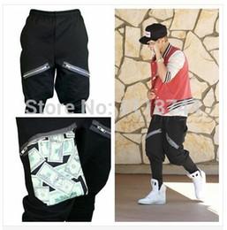 Wholesale- Free shipping justin bieber trousers money pocket fashion