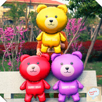balloon animals bear - 10pcs Teddy Bear Shape Aluminum Foil Balloon Giant Balloons Birthday Party Balloons toycity