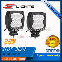 Cheap 1X 80W LED CREE WORK LIGHT SPOT OFFROAD 4WD TRUCK LAMP LED CAR DAYTIME RUNNING LIGHT