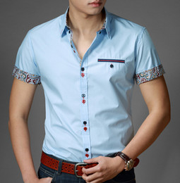 Wholesale-Free Shipping Mens Slim fit stylish Dress short Sleeve Shirts Mens dress shirts