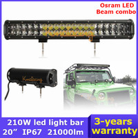 Cheap 20 inch 210W led Light Bar Car OSRAM LED Work Off Road Light 4x4 Wagon AWD SUV Truck beam Combo 4WD Pickup SUV DC 9~32V Camper
