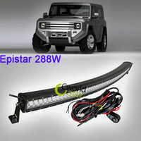 Cheap 50'' Curved Off Road 288W LED Light Bar Spot Flood Combo Beam SUV ATV UTV Wagon 4WD 4X4 Truck Auxiliary Roof Bumper Offroad Lamp