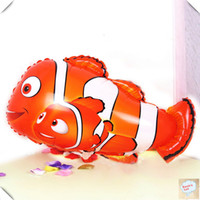 helium nemo prices - Wholesale 18inch heart NEMO fish balloons for child's toys Clownfish Aluminium foil balloons helium balloons free shippingtoycity