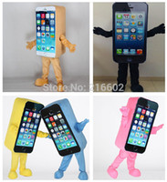 adult costume stores - Iphone c Promotion Mascot Costume Express Advertising Phone Mobile Store Mascot Costume Cell Phone Apple high quality Adult Size SALE
