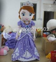 Cheap Hot sale new design adult mascot costume princess Sofia adult Sofia the first mascot costume free shipping