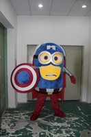reso adulto Cattivissimo Me Minion costume della mascotte Nuovo capitano speciale l'America su misura made in China libera Shiping